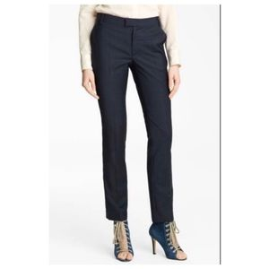 Band of Outsiders BOY charcoal blue pinstripe pant
